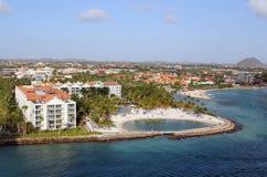 Oranjestad, Aruba seaside resort Stock Image