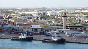 Oranjestad dans Aruba Images libres de droits