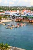 Oranjestad hamn, Aruba Royaltyfri Fotografi