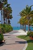 Oranjestad i aruba Arkivbild
