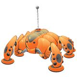 Orannge web searcher robot. An orange internet robot. Part of a series of robots created as fun concepts having to do with Internet functions, such as Search Stock Photo
