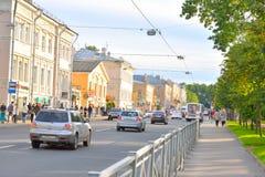 Oranzhereinaya street in Tsarskoe Selo. Royalty Free Stock Photos