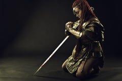 Oração do guerreiro Imagem de Stock Royalty Free