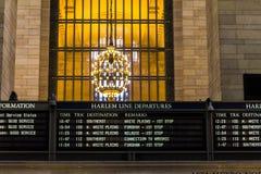 Orario del terminale di Grand Central Immagini Stock