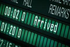 Orario dell'aeroporto Fotografia Stock