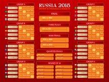 Orario della coppa del Mondo della Russia royalty illustrazione gratis
