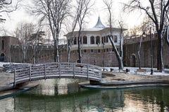 Orario invernale al parco di Gulhane, Costantinopoli Fotografia Stock Libera da Diritti