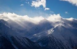 Orario invernale in alpi Fotografie Stock