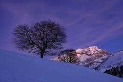 Orario invernale in Svizzera centrale Fotografia Stock