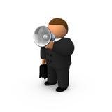 Orateur avec le haut-parleur Photos libres de droits