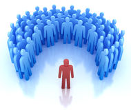 Orateur et groupe de personnes illustration stock