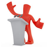 Orator. 3d character in orator role Vector Illustration