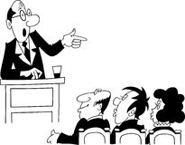 Orator giving a speech before audience Royalty Free Stock Photos
