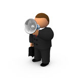 Orator with speaker Royalty Free Stock Photos