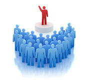 Orator speaking in front of people Royalty Free Stock Photo
