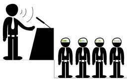 Orator speaking to the audience Royalty Free Stock Photos