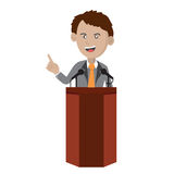 Orator Standing On Podium Stock Images