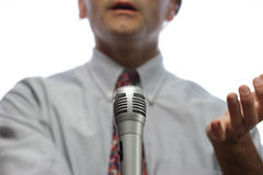 Oratore Fotografia Stock