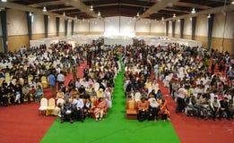 Orators beskådar av Hall Royaltyfria Foton