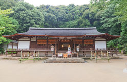 Oratory Haiden (1215) of Ujigami Shinto Shrine in Uji, Japan. Na Stock Photography
