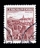Orava城堡、城堡、风景和城市serie,大约1931年 库存照片