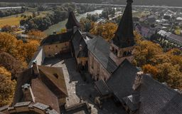 Orava城堡在斯洛伐克 免版税库存图片