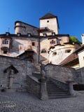Orava城堡,斯洛伐克庭院  库存照片