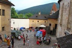 Orava城堡,斯洛伐克庭院 免版税库存图片