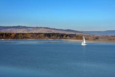 Orava水库,斯洛伐克水  免版税库存照片