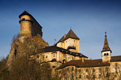 Orava castle stock photo