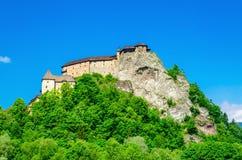 Orava Castle beautiful Slovak Hrad, Slovakia Royalty Free Stock Image