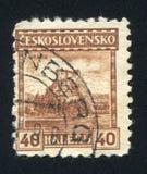 Orava Castle. CZECHOSLOVAKIA - CIRCA 1926: stamp printed by Czechoslovakia, shows Orava Castle, circa 1926 stock photography