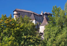 Orava castle hidden in forest Royalty Free Stock Photos