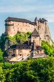Orava Castle or Oravský hrad is situated on a high rock above Orava river in the village of Oravský Podzámok, Slovakia. It is. Oravsky, Slovakia - June royalty free stock photo