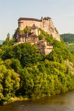 Orava Castle or Oravský hrad is situated on a high rock above Orava river in the village of Oravský Podzámok, Slovakia. It is. Oravsky, Slovakia - June stock photos