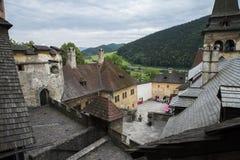 Orava Castle Oravsky hrad . Slovakia. royalty free stock photography