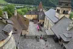 Orava Castle Oravsky hrad . Slovakia. stock photography