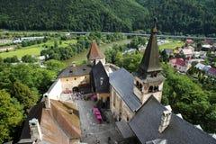 Orava Castle Oravsky hrad . Slovakia. royalty free stock images