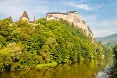 Orava Castle. With Orava River - Slovakia royalty free stock photos