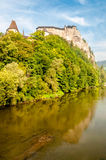 Orava Castle. With Orava River - Slovakia royalty free stock images