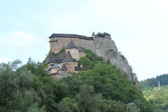Orava castle, Slovakia royalty free stock photos