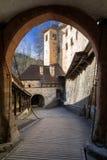 Orava castle, Slovakia. Drawbridge in Orava castle, Slovakia royalty free stock images