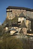 Orava Castle, Slovakia. The historical Orava castle at morning sunrise - Slovakia royalty free stock photography