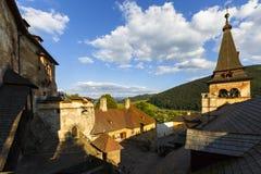 Orava castle, Slovakia. View from Orava castle in northern Slovakia stock photos