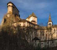 Orava castle, Slovakia. Orava castle in village Oravsky Podzamok, Slovakia stock photography