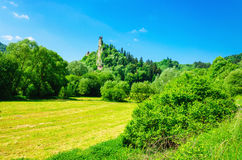 Orava castle tower in clear summer day, Slovakia stock images