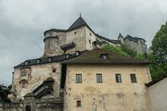 Orava castle whole. From yard royalty free stock image
