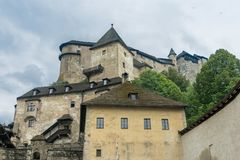Orava castle whole stock photos