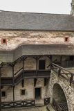 Orava castle yard with stairs royalty free stock photos