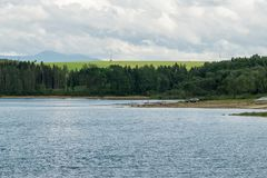 Orava reservoir from various angles with shore royalty free stock photos